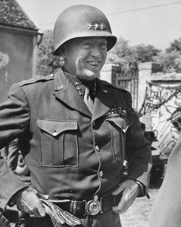 Patton pissing in rhine