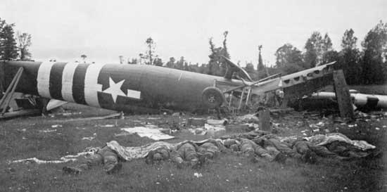 D-Day, crashed Horsa glider