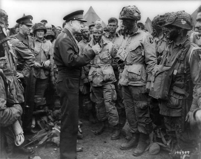 D-Day, Ike with paratroopers