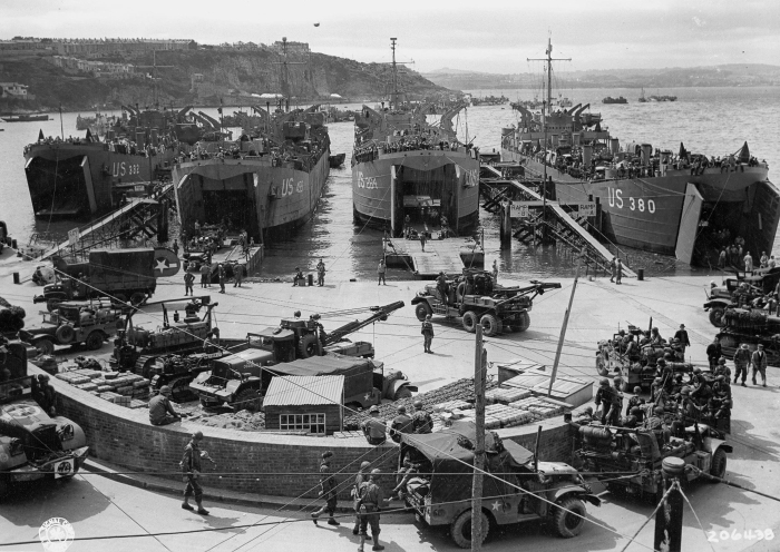 D-Day, loading ships at Devon