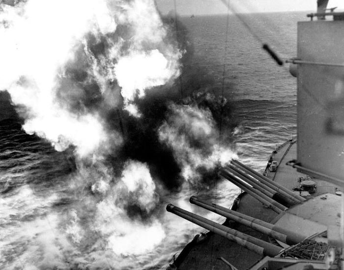 D-Day, USS Nevada off Utah