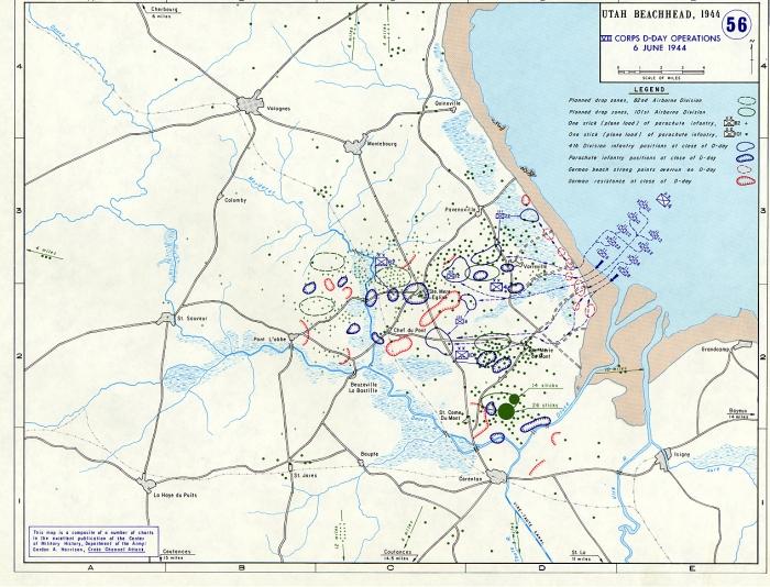 D-Day, Utah Beach map