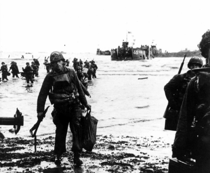 D-Day, Utah, soldiers ashore
